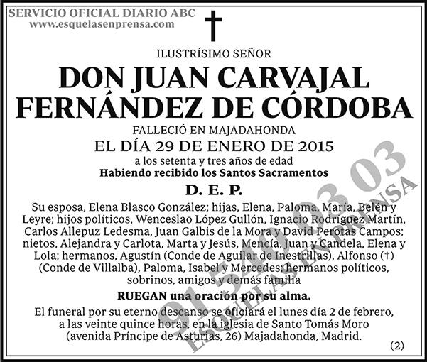 Juan Carvajal Fernández de Córdoba